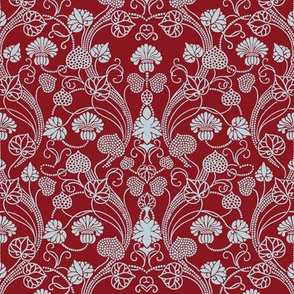 lotus damask cranberry