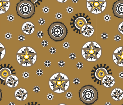 Coconut_shells_black_brown fabric by malolo on Spoonflower - custom fabric