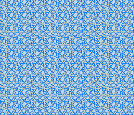 Star of David fabric by puggy_bubbles on Spoonflower - custom fabric