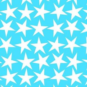 a big star now sky blue