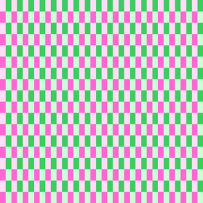 Woven pink and green