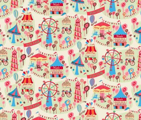 Fun Fair Small fabric by jill_o_connor on Spoonflower - custom fabric