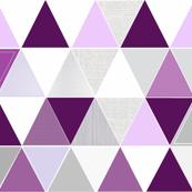 Plum Lavender Triangle Quilt