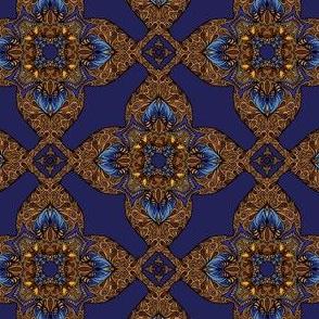 gilded blue velvet cross