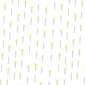 Yellow Sewing Pins