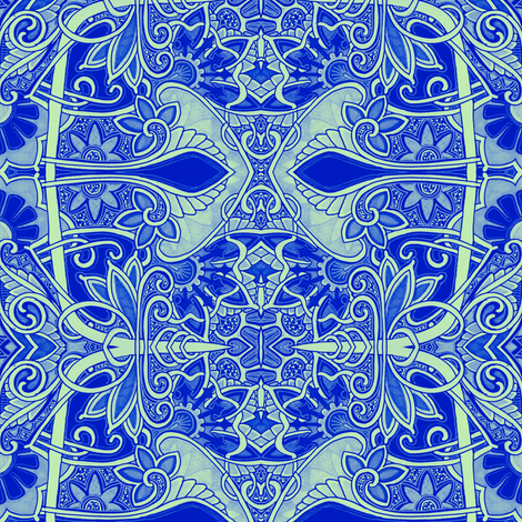 Medieval Blues fabric by edsel2084 on Spoonflower - custom fabric