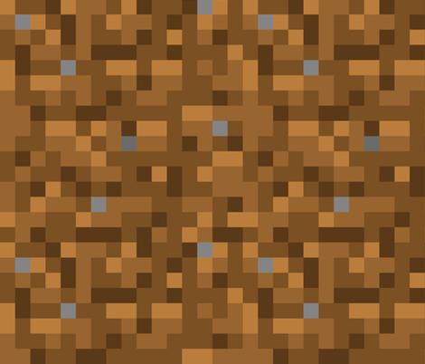 8-bit Dirt Block fabric by wilsongraphics on Spoonflower - custom fabric