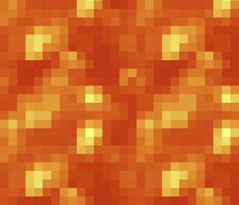 8-bit Lava Block fabric by wilsongraphics on Spoonflower - custom fabric