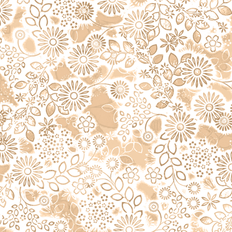 Floral Lace in flesh color fabric by joanmclemore on Spoonflower - custom fabric