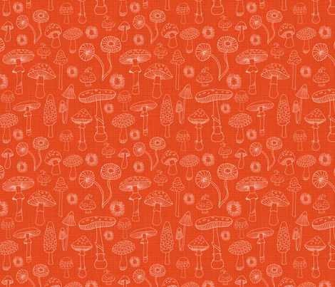 Champignons  fabric by snowflower on Spoonflower - custom fabric
