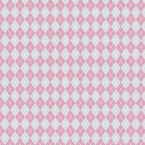 Pink Gray Argyle
