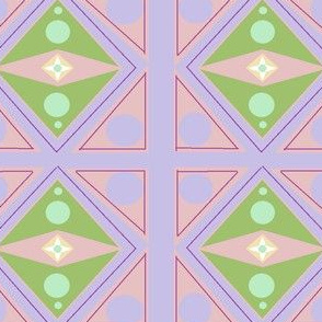Deco Pink Purple Green