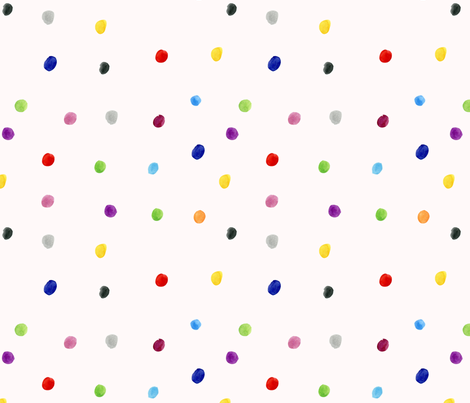 Watercolor Polka Dots - Multicolor fabric by arrowandtheheart on Spoonflower - custom fabric