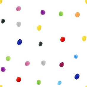 Watercolor Polka Dots - Multicolor