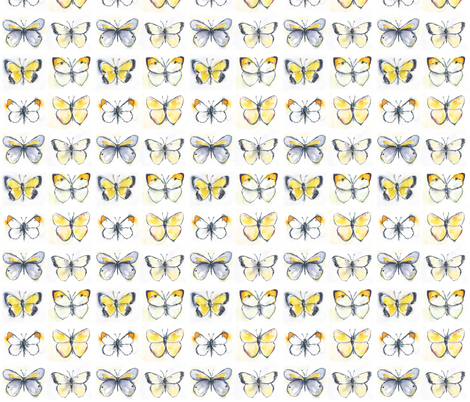 Yellow Butterflies fabric by lanagibson on Spoonflower - custom fabric