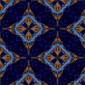 gilded blue velvet diamond