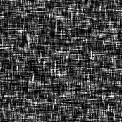 Sparse white on black tweedy linen-weave, LARGE by Su_G