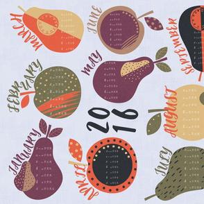 2016 Calendar - Fruit Theme