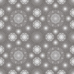 Spirograph Lace - Grey and white