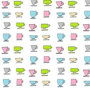 Coffe Mugs - pastels