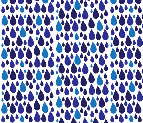 Raindrops fabric by flatfilestudios on Spoonflower - custom fabric