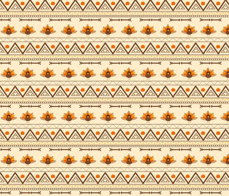 Aztec Turkey fabric by hypatias on Spoonflower - custom fabric