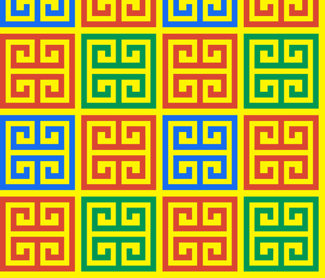 5 geometric greek keys decorative borders versace inspired autumn winter a/w 2015 motifs meander labyrinth patterns architecture architectural  fabric by raveneve on Spoonflower - custom fabric