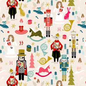 nutcracker // nutcracker holiday xmas christmas fabric xmas holiday fabric by andrea lauren