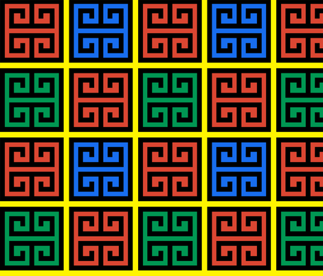 4 geometric greek keys decorative borders versace inspired autumn winter a/w 2015 motifs meander labyrinth patterns architecture architectural  fabric by raveneve on Spoonflower - custom fabric