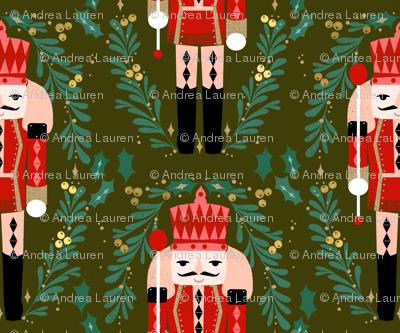 nutcracker // nutcracker ballet xmas holiday xmas christmas fabric red and green holiday design