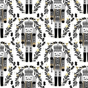 nutcracker // nutcrackers holiday xmas christmas black and gold fabric holiday xmas nutcracker ballet fabric