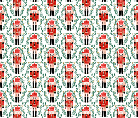 nutcracker // xmas holiday christmas fabric red and green nutcrackers fabric by andrea lauren fabric by andrea_lauren on Spoonflower - custom fabric