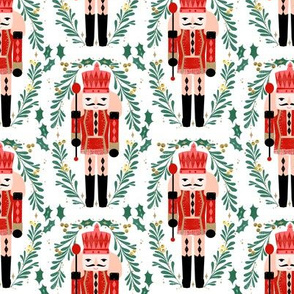 nutcracker // xmas holiday christmas fabric red and green nutcrackers fabric by andrea lauren