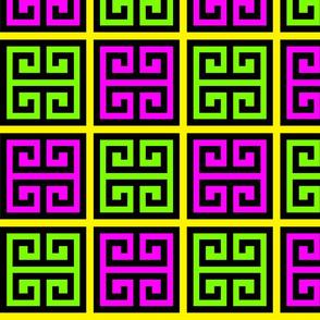 4 geometric greek keys decorative borders versace inspired autumn winter a/w 2015 motifs meander labyrinth patterns architecture architectural neon