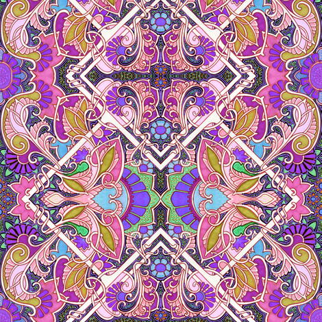 Cosmic Orchid Dance fabric by edsel2084 on Spoonflower - custom fabric