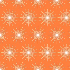Pulsar* (Valencia) || galaxy outer space stars starburst cosmic atomic midcentury modern sun orange