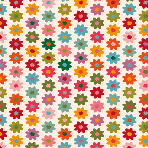 Small flowers folk fabric by leventetladiscorde on Spoonflower - custom fabric