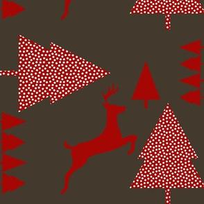 Reindeer red chocolate