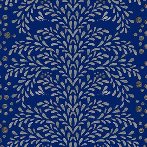 Victorian Inspiration in Silver (Deep Blue)