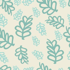 Falling Leaves in Mint