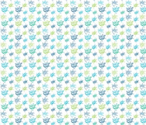 Sea Turtles fabric by puggy_bubbles on Spoonflower - custom fabric