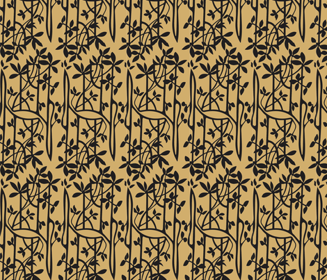 Mangroves_brown_black fabric by malolo on Spoonflower - custom fabric