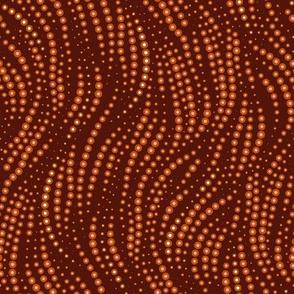 Dots Tentacular, Large - Hammered Copper