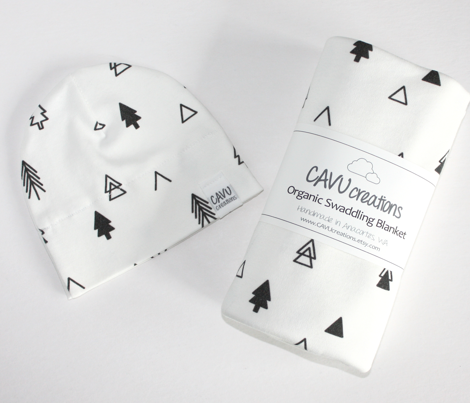 Trees - Black on White Scattered
