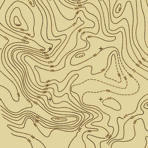 Tan Contour Map