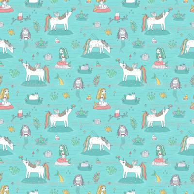 Unicorns and mermaids on the pond