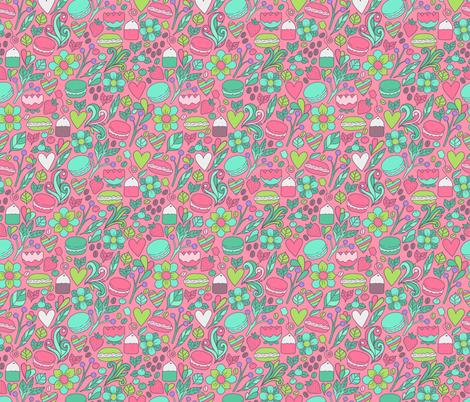 macaron pattern fabric by kostolom3000 on Spoonflower - custom fabric