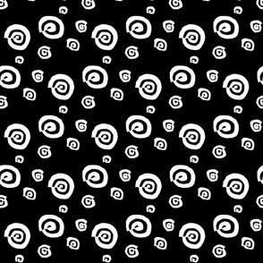 funky snail in black & white