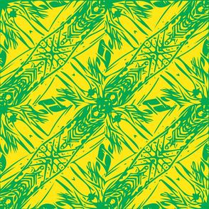 Hawaii Plant Series-Yellow & Green