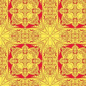 Croton-Red & Orange Vector